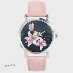 Zegarek, bransoletka - Lilia - pudrowy róż