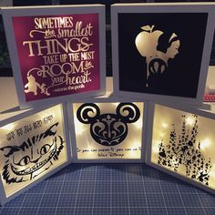 Sieh dir dieses Instagram-Foto von @loving_liife_ an • Gefällt 39 Mal Disney Home, Disney Fun, Disney Nerd, Disney Diy Crafts, Fun Crafts, Diy And Crafts, Glass Block Crafts, Disney Presents, Shadow Box Art