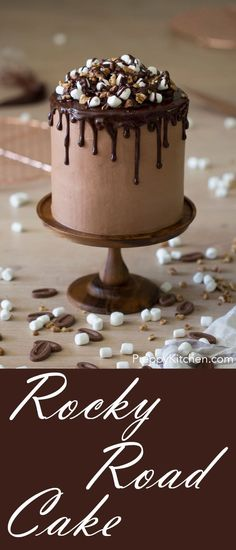 The most decadent chocolate rocky road cake possible! via @preppykitchen