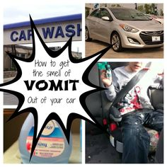 how to get the smell of vomit out of your car...not just for kid puke, but for dog puke too.