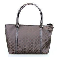 c16811d48fc0 NEW Authentic GUCCI GG Medium Joy Tote Bag Handbag, Brown Nylon, 265695  2092 Tory