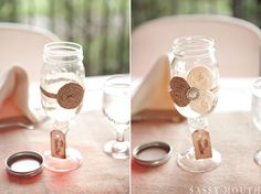 Rustic Mason Jar Glasses and Wedding Décor by Country Girl Collections