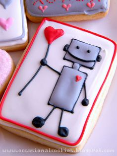 """www.occasionalcookies.blogspot.com  Robots and baked goods? *sings """"These are a few of my favorite things""""* #robot #cookies"""