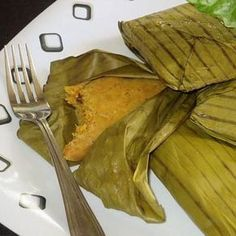 Bajan (Barbados) Conkies.Conkies are a favourite treat for many Bajans! They are traditionally made during the month of November to celebrate Barbados Independence. Get the recipe at: http://www.allaboutcuisines.com/recipe/bajan-barbados-conkies #Barbados Food #Barbados Recipes #Travel Barbados