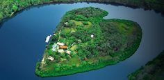 """Richard Branson's island home in the Queensland coastal town of Noosa, which he calls his """"favorite place in Australia""""."""