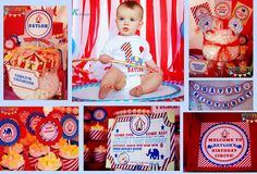 Circus Party Decor ASSEMBLED  FULLY Assembled by AnnounceYourDay