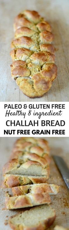Paleo Challah loaf. Best Grain free bread recipes! Paleo french bread. Easy to make sandwich bread. Delicious healthy bread recipes for all your cravings!