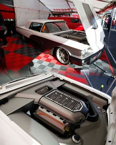 The engine bays get more beautiful as the years go on at SEMA.