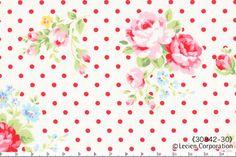 Flower Sugar, Rosenstoff Polkadots, Lecien von Rosenstoffe Shop auf DaWanda.com