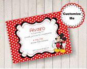 Mickey Mouse editable invitations.