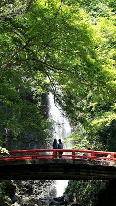Minoh waterfall in Osaka, Japan (by k n u l p on Flickr)