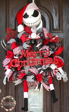 A personal favorite from my Etsy shop https://www.etsy.com/listing/250704679/christmas-jack-skellington-wreath