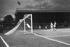 Celtic 3 Hearts 1 in Oct 1975 at Parkhead. A Paul Wilson shot flies into the net for Celtic's goal Celtic, Shots, Hearts, Goals, Heart