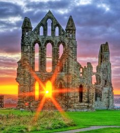 Places of Worship - Whitby Abbey,Whitby, North Yorkshire, England: Beautiful Ruins, Beautiful World, Beautiful Places, Places Around The World, The Places Youll Go, Places To See, Yorkshire England, North Yorkshire, Whitby England