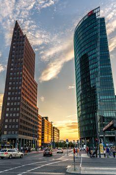 Coucher de soleil Potsdamer Platz #berlin #voyage #europe