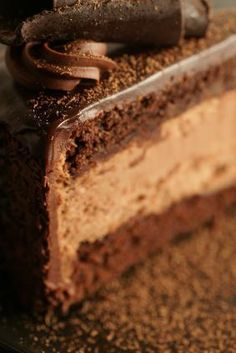Chocolate mousse filling for cake; 3 ingredients. How to Make a Chocolate Mousse Cake