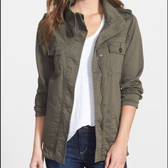 Utility Jacket Zip up. Bought from Nordstrom. I do not trade. Only worn a couple times. Jackets & Coats Utility Jackets