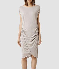 Womens Warp Wo Dress (Aubergine) - All Saints