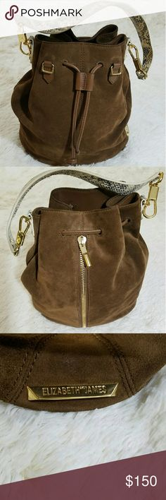 Pre Owned Elizabeth and James Cynnie Bag This cute brown bag will take you from work straight to a party. Can be rocked any way, with a dress, jeans and tee shirt etc. Elizabeth and James Bags Shoulder Bags