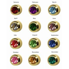 12 Pairs of Studex Ear Piercing Birthstones Gold Plated Stud Earrings Regular 4mm Bezel Setting, I am Garnet :)