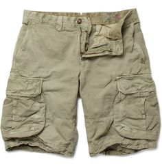 Incotex - Cotton and Linen-Blend Cargo Shorts|MR PORTER