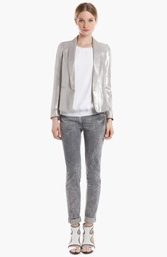 sandro 'Virginale' Lamé Tuxedo Jacket available at #Nordstrom