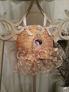 Mixed Media Shabby Chic Vintage Lady by S. Giannetti