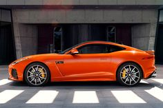 2017 Jaguar F-type SVR: The F-type - Photo Gallery of auto show news from Car and Driver - Car Images - Car and Driver Jaguar Sport, Jaguar Cars, Jaguar Xe, New Jaguar F Type, Car Side View, Jaguar Models, Jaguar Land Rover, Geneva Motor Show, Sport Cars