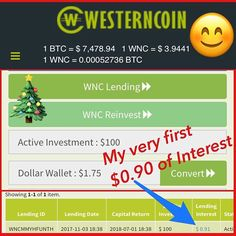 #reposting Just earned my first days Interest using the Westerncoin lending platform.  Invest as little as $100 and receive 'daily' interest.  People all over the world are flooding into crypto currencies these days, why?  Because the paper money system everyone uses is being setup to collapse pretty soon. When your dollar devalued or you are no longer allowed to take your own money out of the criminal banks, ATMs or credit cards, what do you do? Well people who have woken up to the fact…