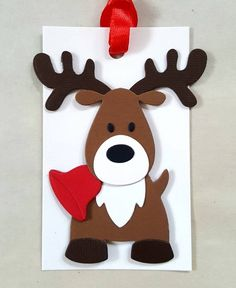 Your place to buy and sell all things handmade Reindeer gift tags / Reindeer Christmas tags / Reindeer favor tags / christmas tags / reindeer party Diy Christmas Tags, Christmas Party Favors, Christmas Wood, Christmas Crafts For Kids, Holiday Crafts, Handmade Christmas, Christmas Ornaments, Reindeer Christmas, Christmas Decorations