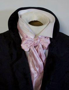 REGENCY Cherry Blossom Pink Dupioni Silk Brummel by elegantascot, $20.00