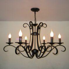 Lámparas de fierro forjado