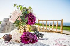 Centerpieces | Wedding Photography at The Ritz Carlton Half Moon Bay | Half Moon Bay, CA | Wedding Photography | Christophe Genty Photography