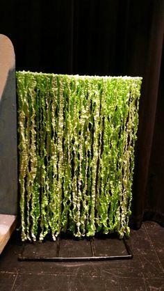 Plastic tablecloth vines
