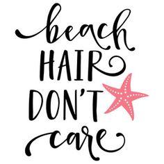 Silhouette Cameo Projects, Silhouette Design, Vinyl Crafts, Vinyl Projects, Beach Quotes, Beach Sayings, Beach Hair, Girl Beach, Cricut Vinyl