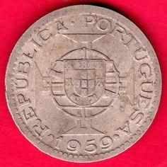 PORTUGUESE INDIA GOA - 1959 - THREE ESCUDO - RARE COIN P51
