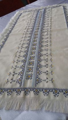 This Pin was discovered by Ρου Kasuti Embroidery, Swedish Embroidery, Hand Work Embroidery, Vintage Embroidery, Ribbon Embroidery, Cross Stitch Embroidery, Embroidery Patterns, Stitch Patterns, Just Cross Stitch