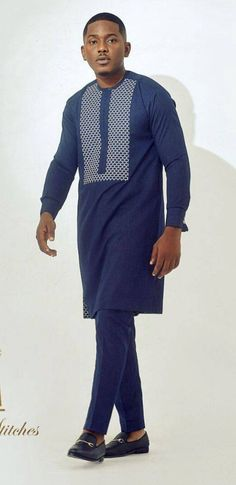 African Shirts For Men, African Attire For Men, African Wear, Nigerian Men Fashion, African Men Fashion, Kaftan Designs, Ankara Designs, Wedding Guest Suits, Dashiki For Men