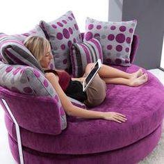 MyApple Swivel Lounge Love Seat Sofa by Famaliving San Diego modern-loveseats Purple Furniture, Funky Furniture, Purple Love, All Things Purple, Purple Stuff, Salons Violet, Cuddle Chair, Purple Rooms, Home Furnishings