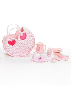 Look what I found on #zulily! Pink Hungry Baby Accessory Set by Madame Alexander #zulilyfinds