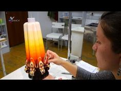 резные свечи Юлии Крук - YouTube