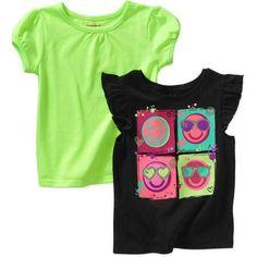 Garanimals Baby Toddler Girl Tees, 2-Pack