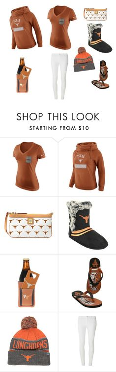 """Texas longhorns 👍🏻"" by mandapanda145 on Polyvore featuring NIKE, Dooney & Bourke, The Memory Company, Top of the World and Dorothy Perkins"