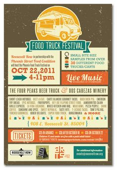 Food Tickets Template Food Truck Fundraiser Flyer ~ Customizable Party Poster Flyer Event .