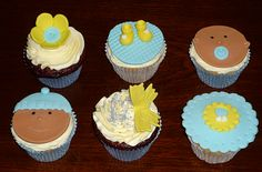 Baby boy cupcakes by Eva Rose Cakes
