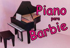 COMO FAZER PIANO PARA BONECA BARBIE EMONSTER HIGH PARTE 1