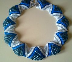 "Колье"" Фелисита"" Wave Jewelry, Beaded Jewelry, Handmade Jewelry, Beaded Necklace, Peyote Patterns, Beading Patterns, Peyote Beading, Cute Necklace, Peyote Stitch"