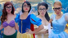Disney Princesses are Hipsters! With Snow White, Ariel, Cinderella and Belle!