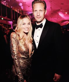 """"""" """"Margot Robbie and Alexander Skarsgard attend the 2016 Vanity Fair Oscar Party Hosted By Graydon Carter at the Wallis Annenberg Center for the Performing Arts on February 28, 2016 """" """""""
