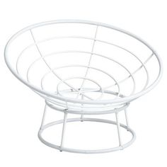 Outdoor White Papasan Chair
